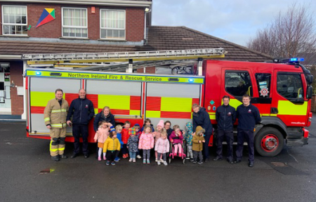 Fire Brigade visit Holly House