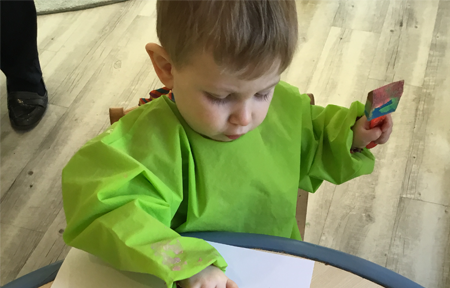 Kids@BT9 Wobblers Enjoy Exploring Textures